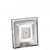 Crystal Square Bedside Clock, 12cm