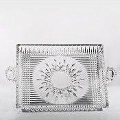 Square Crystal Serving Tray