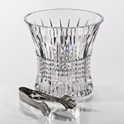 Crystal Ice Bucket with Stainless Steel Ice Tongs