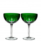 Set/2 Coupe/Dessert Champagne/Cocktail Glasses, 17cm, 295ml - Emerald