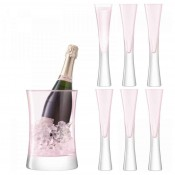 7-Piece Champagne Serving Set - Blush