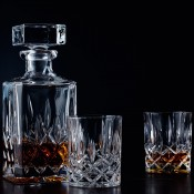 Spirit Decanter, 750ml & 2 Tumblers/Whisky Glasses, 285ml
