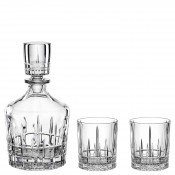 3-Piece Spirit Decanter & 2 Tumblers Barware Set