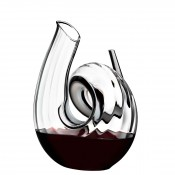 Fatto A Mano - Curly - Wine Decanter, 26.5cm, 1.4L - Clear