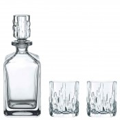 3-Piece Whisky Spirit/Decanter & 2 Tumblers Barware Set