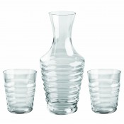 Balloon Decanter, 1.5L and Two Tumblers, 385ml