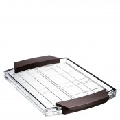Rectangular Serving Tray with Wood Handles, 38x25cm
