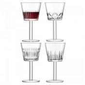 Set/4 Assorted Designs Wine Goblets, 17.5cm, 310ml