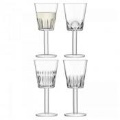 Set/4 Assorted Designs Wine Glasses, 19cm, 300ml