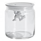 Gianni Small Glass Jar, White