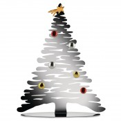 Bark for Christmas - Stainless Steel Christmas Tree with Magnetic Ornaments, 45cm - Stainless Steel