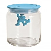 Gianni Large Glass Jar, Blue