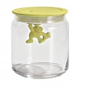 Gianni Small Glass Jar, Yellow