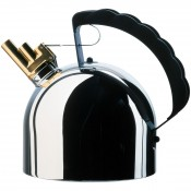 9091 Stainless Steel Kettle with Brass Whistle, 2L