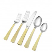 5 Piece Place Setting - 24kt Gold Plate