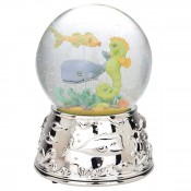 Seatails Seaglobe Silver Plate Musical Water Globe, 17cm