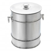 Banded Bead Stainless Steel Ice Bucket, 21cm