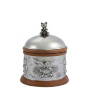 Teddy Bear's Picnic - Wood & Pewter Music Box, 15cm
