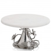 White Marble Cake Stand, 28cm