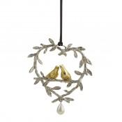 Lovebirds Ornament, 12cm