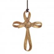 Palm Cross Ornament, 12.5cm - Antique Goldtone