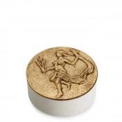 Zodiac Round Box, 11.5cm - Virgo