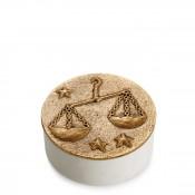 Zodiac Round Box, 11.5cm - Libra