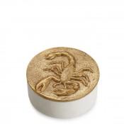 Zodiac Round Box, 11.5cm - Scorpio