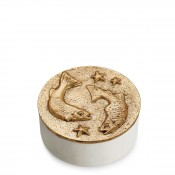 Zodiac Round Box, 11.5cm - Pisces