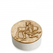 Zodiac Round Box, 11.5cm - Aquarius