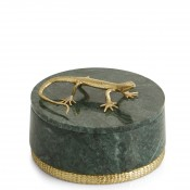 Round Marble Trinket Box with Lid, 11.5cm