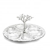 6-Compartment/Seder Plate, 31x28cm