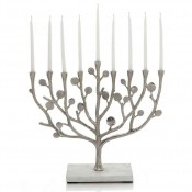 Menorah with Marble Base, 30.5cm