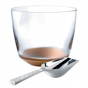 Crystal Ice/Champagne Bucket with Stainless Steel Scoop, 17cm - 3.3L