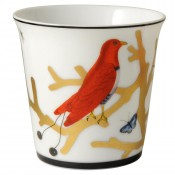 Aux Oiseaux Tumbler, 9cm, 200ml with Rose Pure Scented Candle