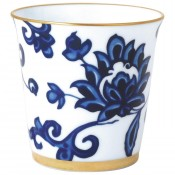 Prince Blue Tumbler, 9cm, 200ml with Rose Pure Scented Candle