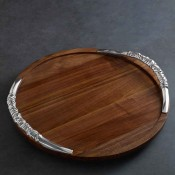 Wood - Lazy Susan Cutting Board with Galena Handles, 56cm