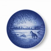 2018 Christmas Plate, 18cm - Fox in Winter Landscape