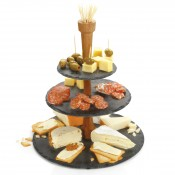 3-Tier Slate Cheese Tower, 34.5cm