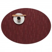 Oval Placemat, 49x35.5cm - Cranberry