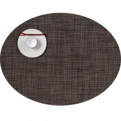 Oval Placemat, 49x35.5cm - Dark Walnut