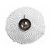 Round Placemat, 38cm - Silver