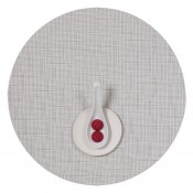 Round Placemat, 38cm - White