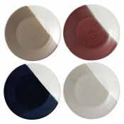 Set/4 Assorted Colours Dessert/Tidbit Plates, 16cm