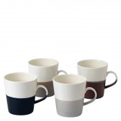 Set/4 Assorted Colours Grande Mugs, 550ml