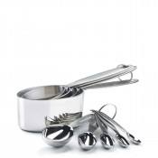 Stainless Steel 5-Piece Measuring Spoon Set & 4-Piece Measuring Cup Set