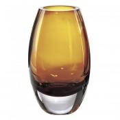 Crystal Vase, 23cm - Amber