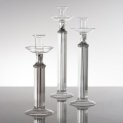 Set/3 Glass Candleholders