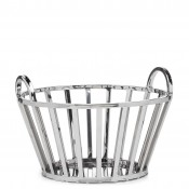 Stainless Steel Fruit/Bread Basket with Handles, 33cm
