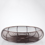 Curved Wire Bowl, 43cm - Antique Copper - Large